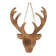 CANVAS White Large WoodDeer Head Ornament