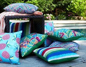 CANVAS OUTDOOR TOSS CUSHIONS