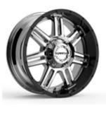 Krank Force Wheel, Chrome Gloss Black Barrel | Krank | Canadian Tire
