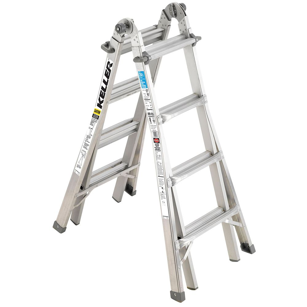 Keller Aluminium Multi-Ladder, 17-ft