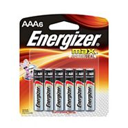 Piles alcalines Energizer Max AAA, paq. 6
