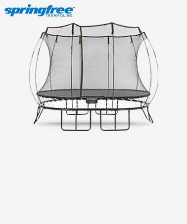 Springfree Oval Trampoline with Safety Enclosure, 8 x 11-ft