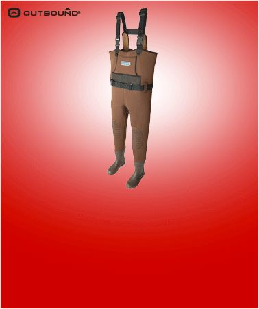Outbound Neoprene Chest Waders, Size 9