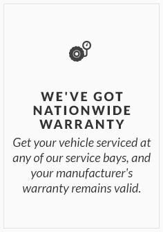 We've got nationwide warranty