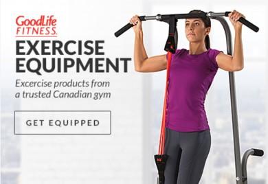 GoodLife Fitness exercise equipment