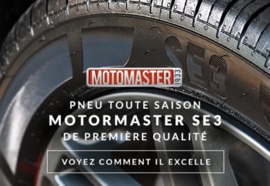Pneu toute saison Motomaster SE3 de première qualité