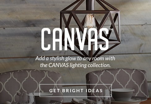Add a stylish glow to any room with CANVAS lighting collection.