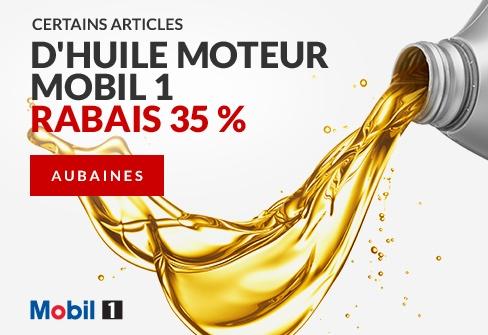Rabais de 35 % sur certains articles d'huile moteur Mobil Super