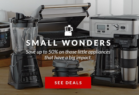 Save up to 50% on selected small appliances