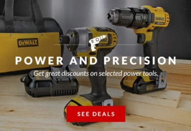 Save on selected power tools
