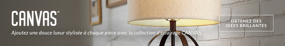 Ajoutez une douce lueur stylisée à chaque pièce avec la collection d'éclairage CANVAS