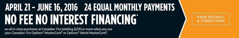24 equal monthly payments, no fee no interest financing