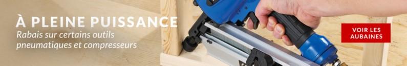 RABAIS sur certains outils pneumatiques et compresseurs