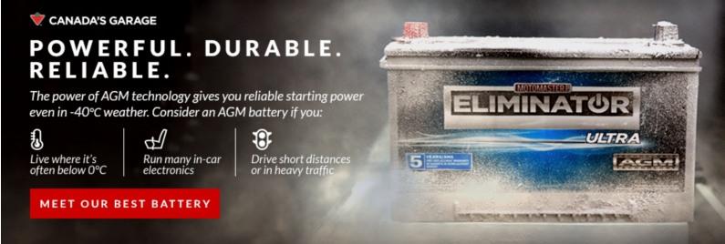 MotoMaster Eliminator Ultra AGM Automotive Battery