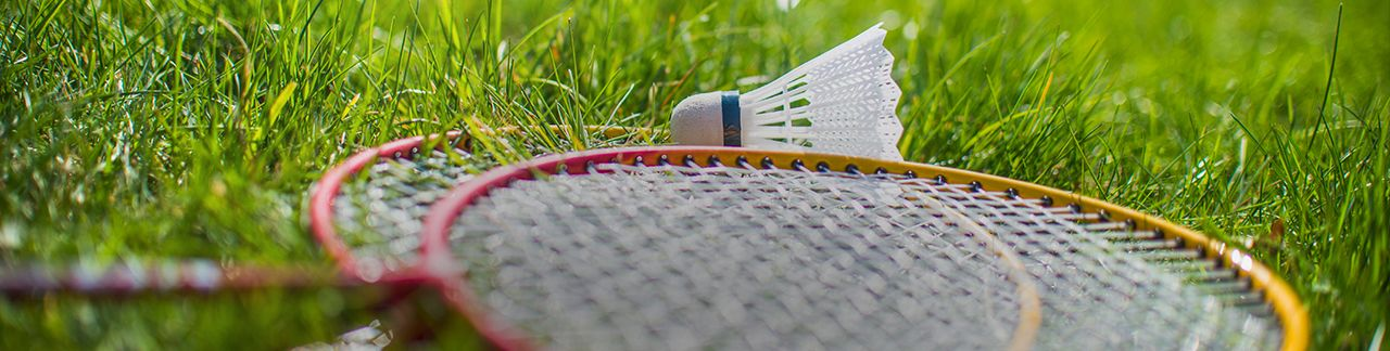 Check out our badminton rackets, shuttlecocks, nets, poles and other accessories