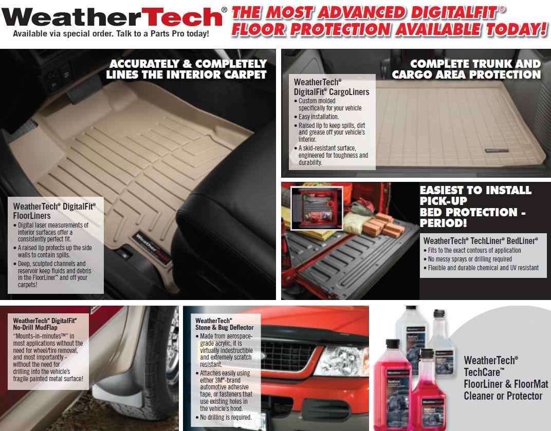 Weathertech mats part source -