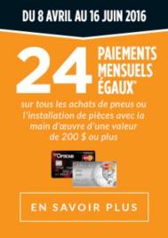 24 PAIEMENTS MENSUELS ÉGAUX Financement