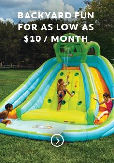 Backyard fun for as low as $10 / month