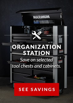 SAVE on selected tool chest and cabinets