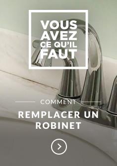Comment remplacer un robinet