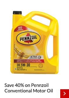 Pennzoil oil sale