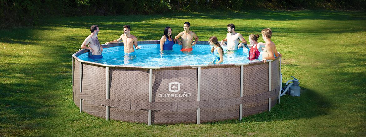 Outbound Steel Frame Pool, 16-ft x 48-in