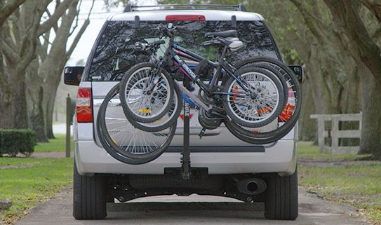 Hitch bike racks can handle up up to five bikes.