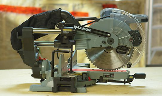 A sliding mitre saw can make longer cuts.