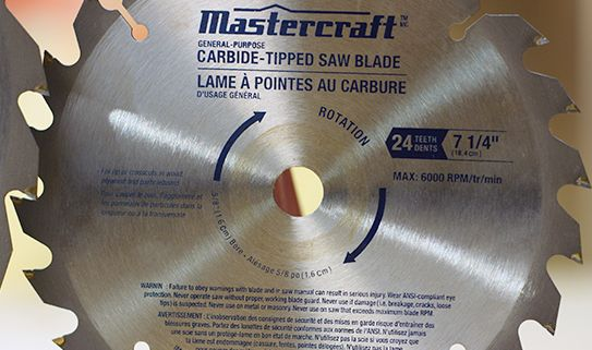 "7 ¼"" mitre saws cut to a depth of 2"""