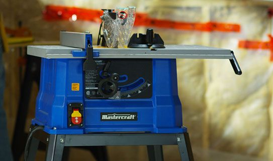 Stationary table saws offer stability and support.