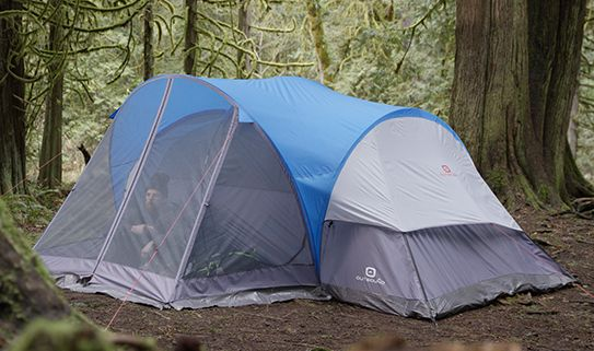 Enjoy a bug-free time when camping with a tent with a screen house