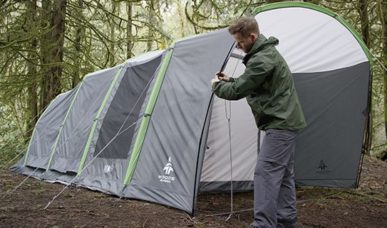 Camping setup is faster with our inflatable tents