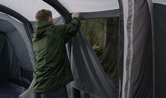 Look for camping tents with temperature and airflow control
