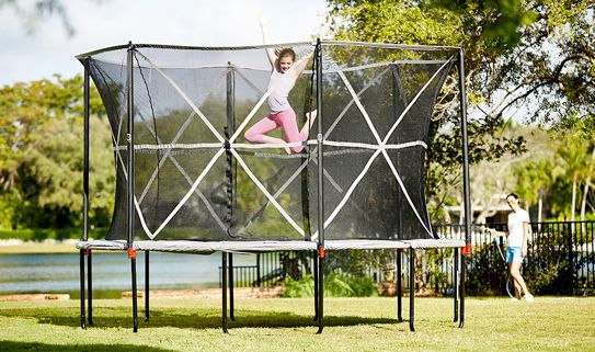 Choose a trampoline with net for extra safety