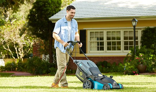You have different mower options, depending on your lawn