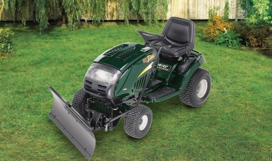 Clean your lawn with powerful dozer blades