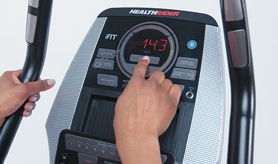Track your workout progress with an LCD console