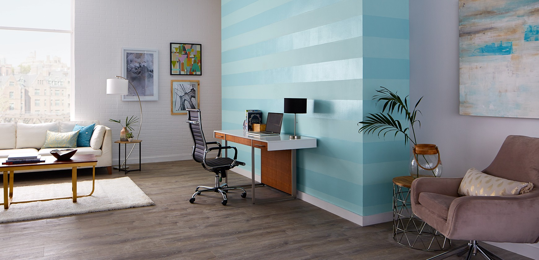 Paint striped walls with Premier.