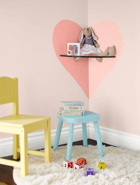 Add sweet paint accents to kid's rooms with Premier.