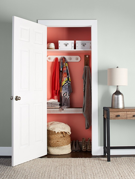 Paint a closet interior with Premier.