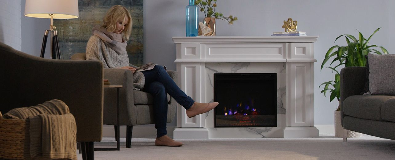 Watch a short video and read a step-by-step guide on how to choose an electric fireplace.. Play video