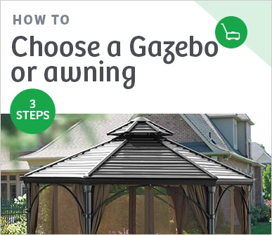 How to choose a gazebo or awning