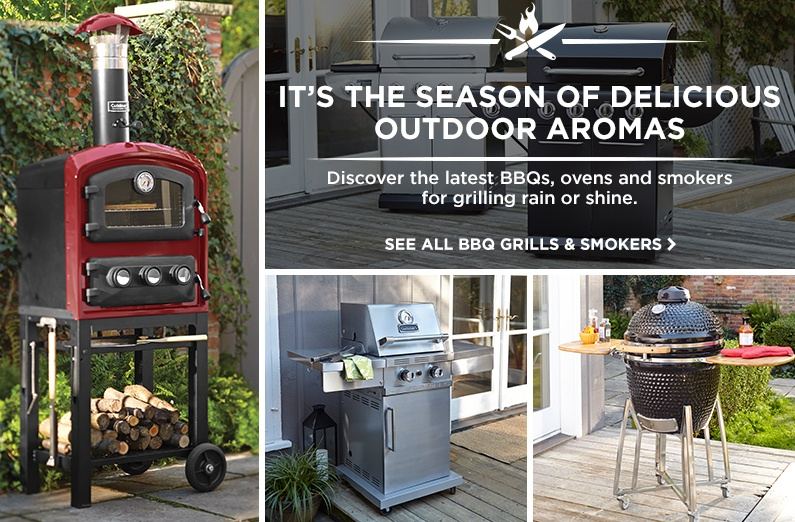 The latest BBQs, ovens and smokers will have you grilling rain or shine