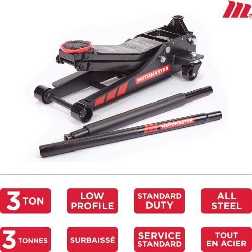 MotoMaster Standard-Duty Low Profile Garage Jack, 3-Ton