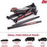 MotoMaster Standard-Duty Low Profile Garage Jack, 3-Ton   MotoMasternull