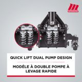 MotoMaster Hybrid Aluminum & Steel Garage Jack, 3-Ton   MotoMasternull