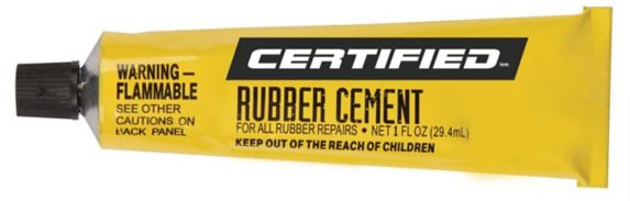 Certified Rubber Cement, 1-oz