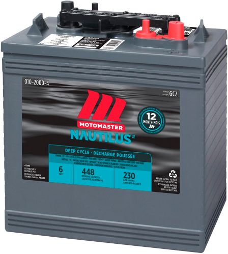 MOTOMASTER NAUTILUS Group Size GC2 6-Volt Deep Cycle Battery Product image