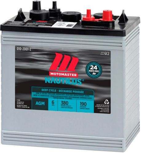 MotoMaster Eliminator Ultra GC2 6-Volt AGM Deep Cycle Battery