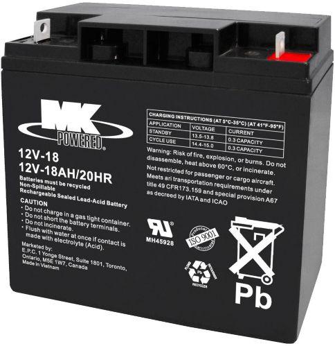 12-Volt 18AH SLA Battery
